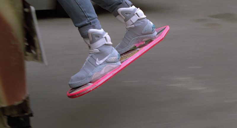 Nike Mag Self-Lacing Sneakers Worn by Michael J. Fox (Marty McFly) in Back to the Future 2 (1989) Movie Product Placement