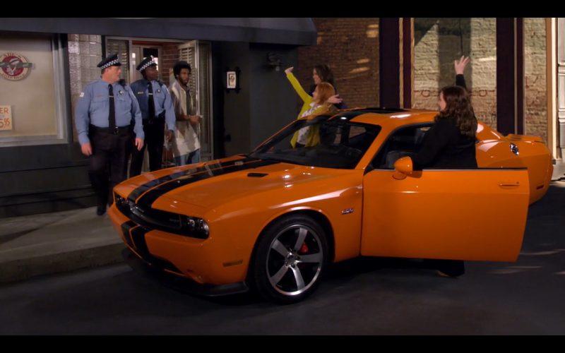 Orange Dodge Challenger SRT (393) - Mike & Molly TV Series