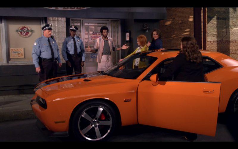 Orange Dodge Challenger SRT (394) - Mike & Molly TV Series
