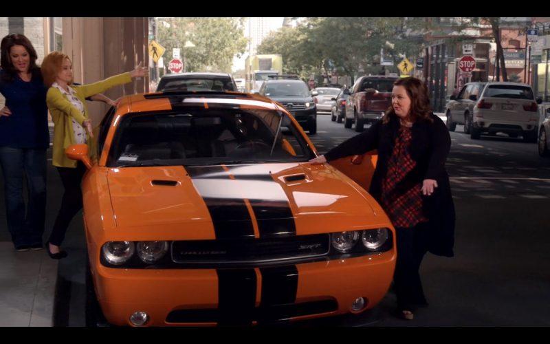 Orange Dodge Challenger SRT (395) - Mike & Molly TV Series