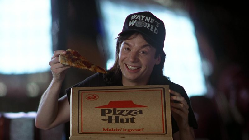 Pizza Hut in Wayne's World (1992) - Movie Product Placement