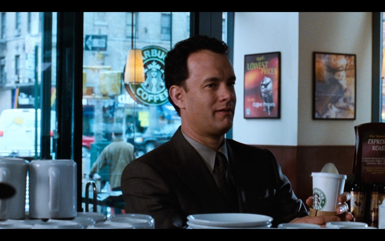 Starbucks Coffee - You've Got Mail (1998) - Movie Product Placement