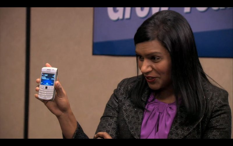 White BlackBerry - The Office TV Show Product Placement