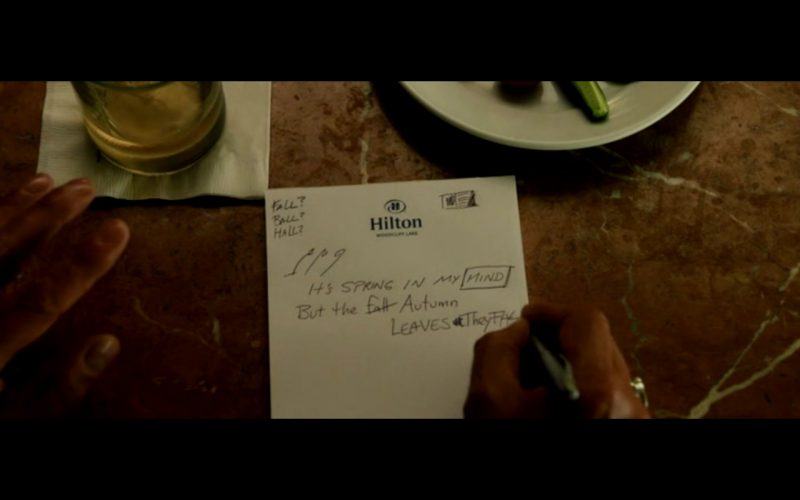 Hilton Hotel – Danny Collins (2015) Movie Product Placement