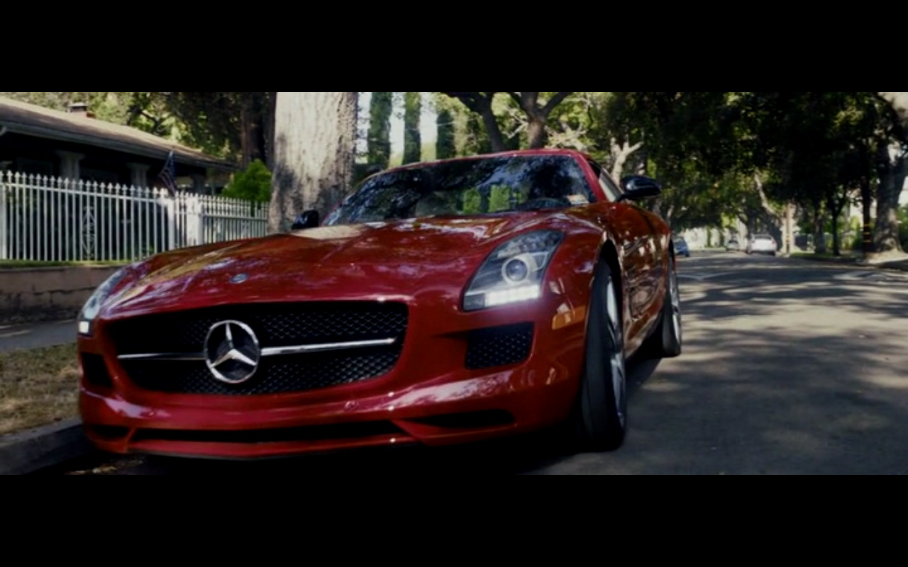 Red mercedes benz sls amg danny collins 2015 movie scenes for Mercedes benz sls amg red