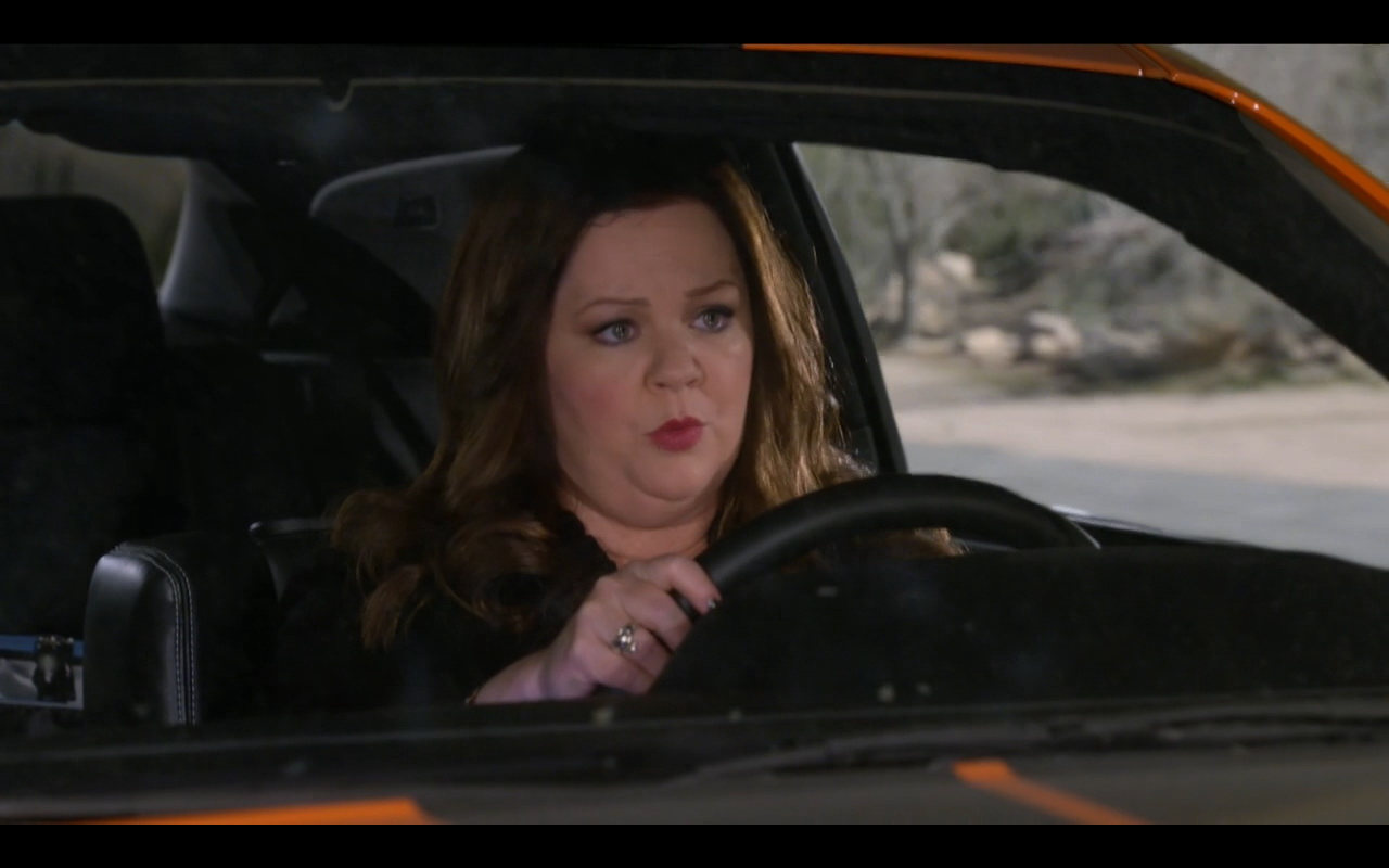 Orange Dodge Challenger in Mike & Molly TV Series TV Show