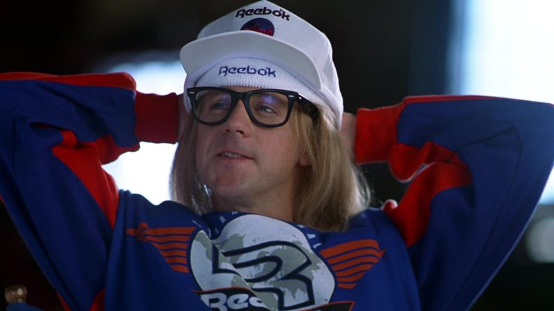 Reebok Sports Clothes and Cap Worn by Dana Thomas Carvey in Wayne's World (1992) Movie Product Placement