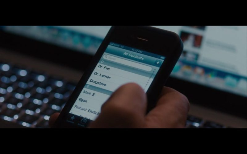 AT&T and Apple iPhone 4 - The Rewrite (2014) Movie Product Placement