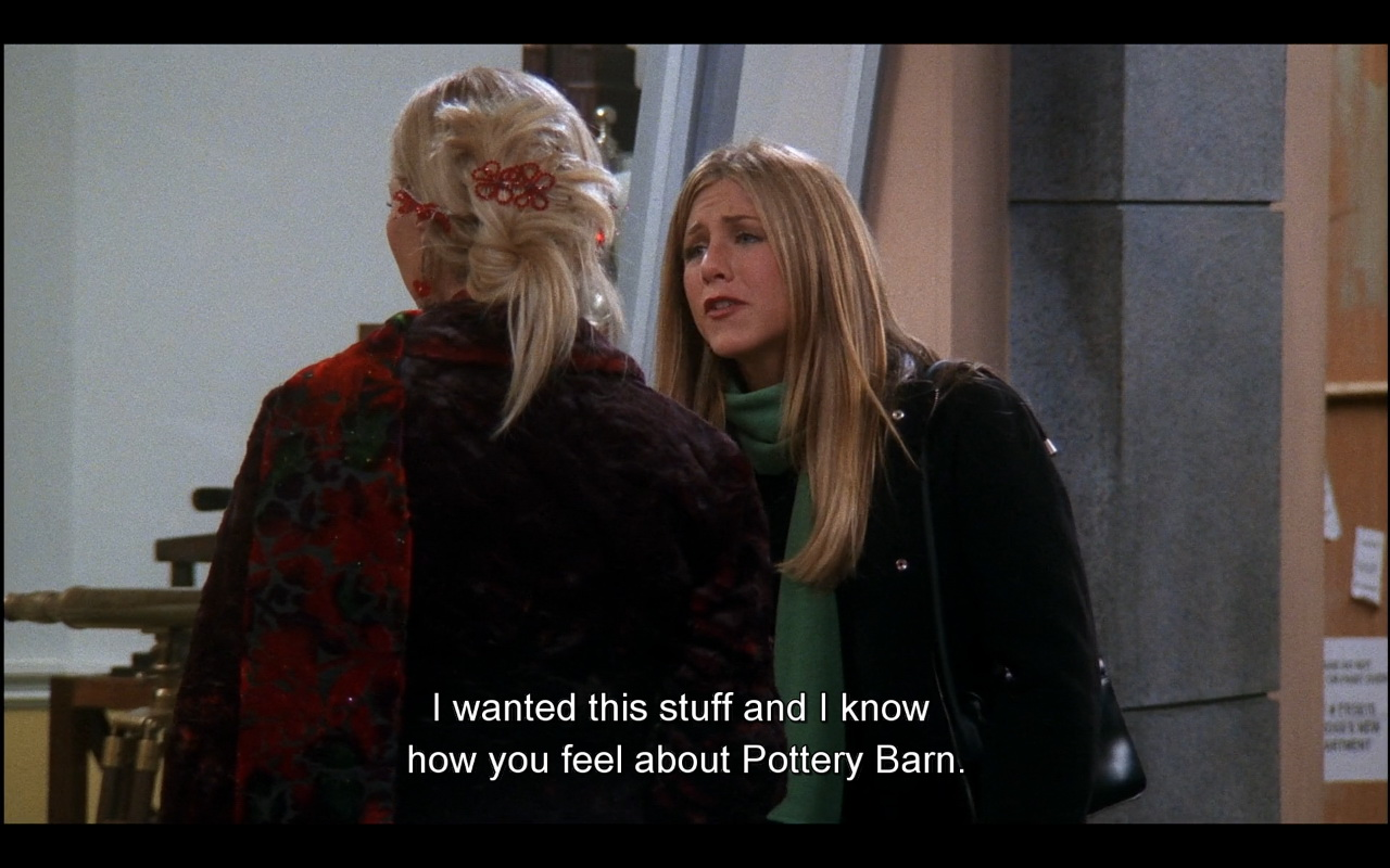 Pottery Barn Friends Tv Show