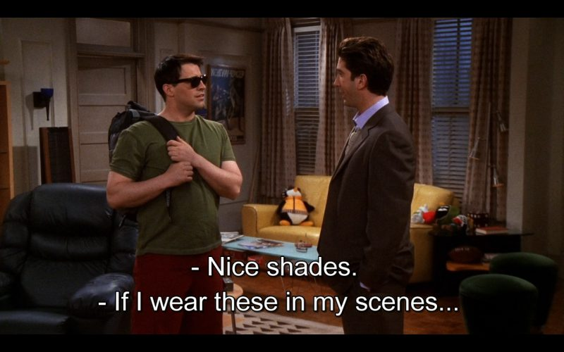 Ray-Ban Sunglasses - Friends - TV Show Product Placement