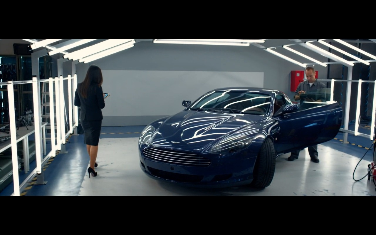Blue Aston Martin DB9 Coupé - Spy (2015) Movie Product Placement