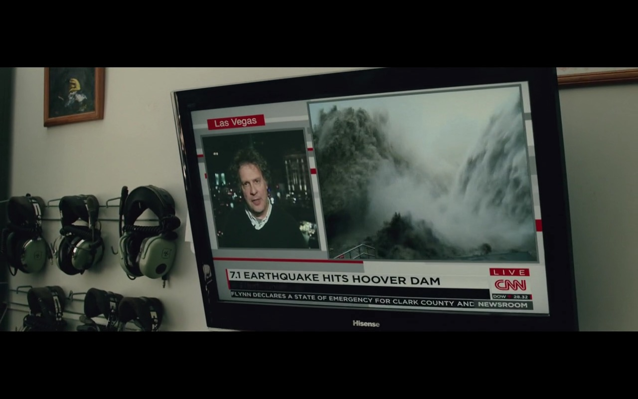 Hisense TV and CNN – San Andreas (2015) Movie Product Placement