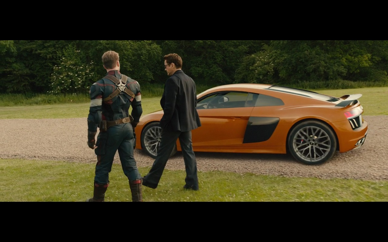 Orange Audi R8 V10 Avengers Age Of Ultron 2015