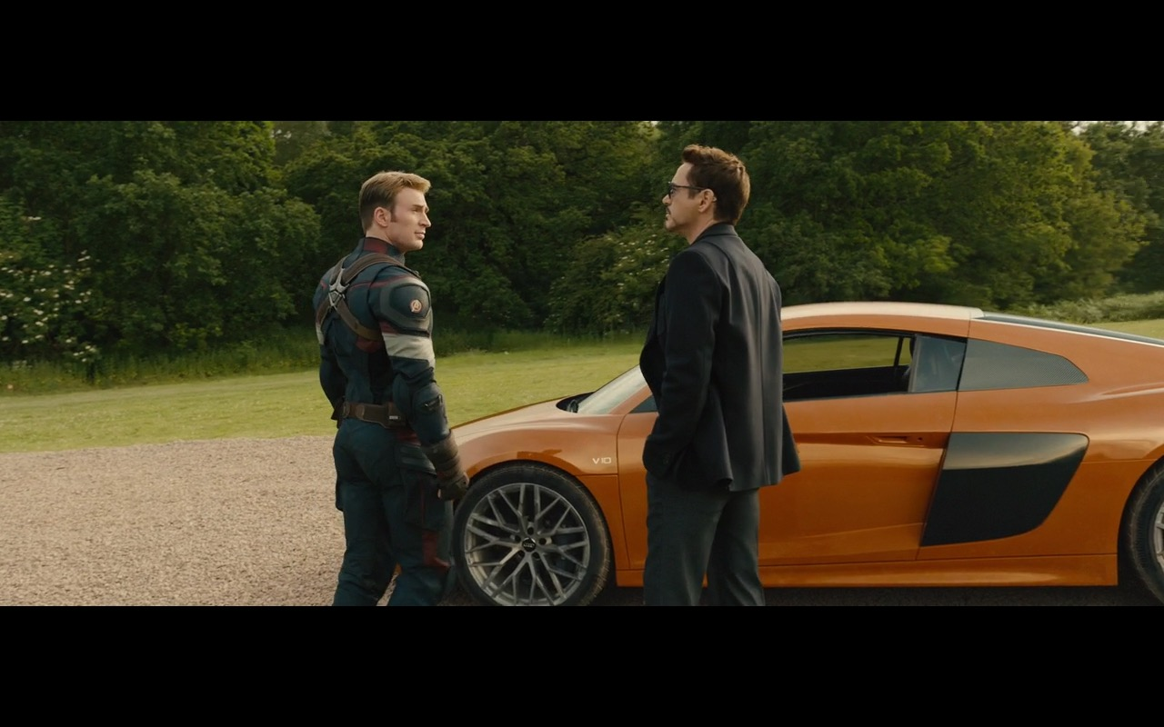Orange Audi R8 V10 Avengers Age Of Ultron 2015 Movie