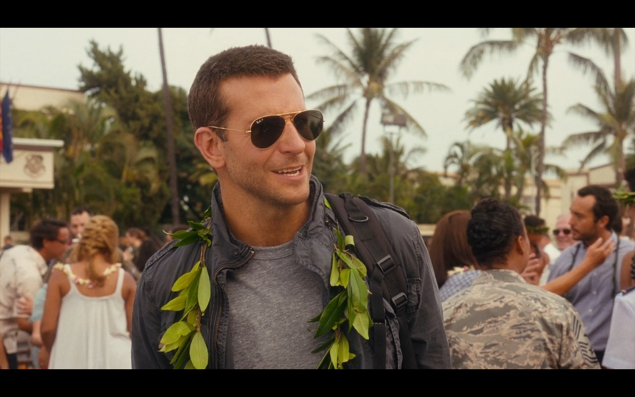 Ray-Ban 3025 Large Aviator Sunglasses - Aloha Movie Product Placement (2)