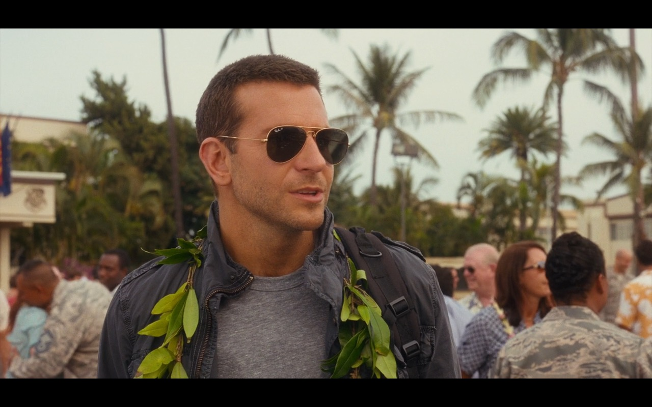 Ray-Ban 3025 Large Aviator Sunglasses - Aloha Movie Product Placement (4)