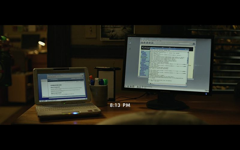 Samsung Monitor & Sony VAIO Laptop - The Social Network (2010) Movie Product Placement