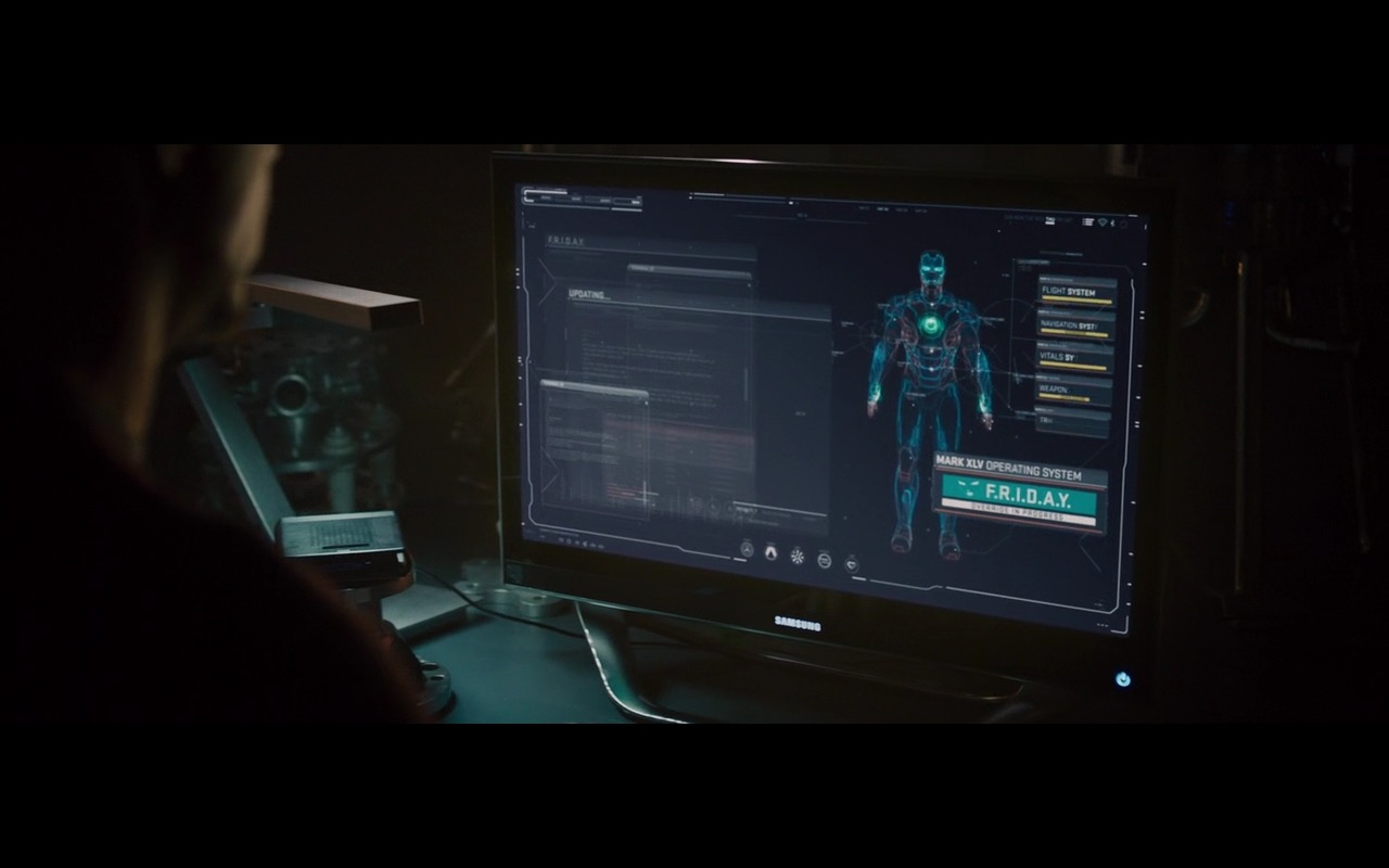 Samsung Monitors – Avengers: Age of Ultron (2015) Movie Product Placement