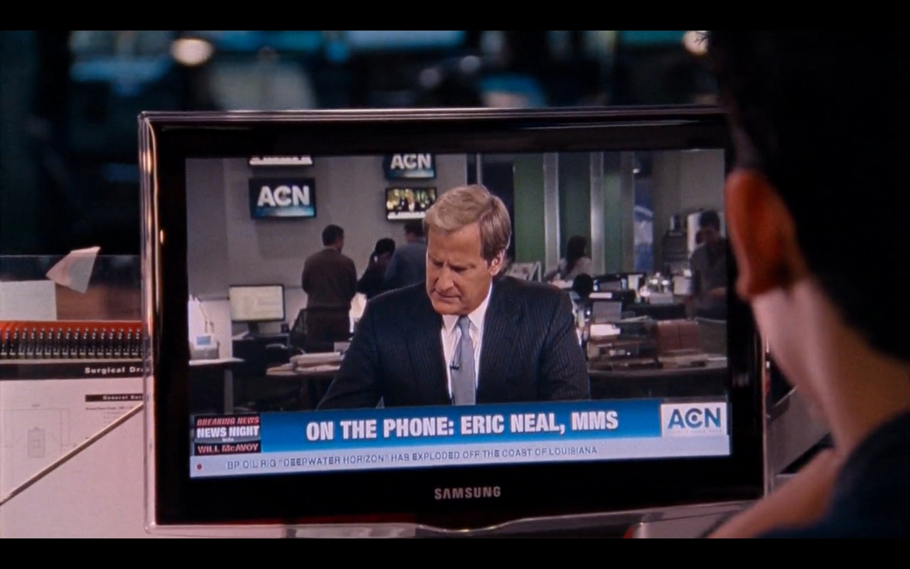 Samsung TV - The Newsroom - TV Show Product Placement