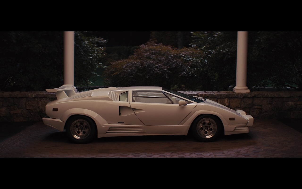 White Lamborghini Countach The Wolf Of Wall Street 2013 Movie