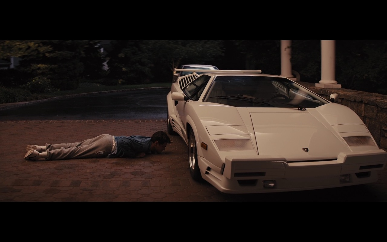 White Lamborghini Countach The Wolf Of Wall Street 2013