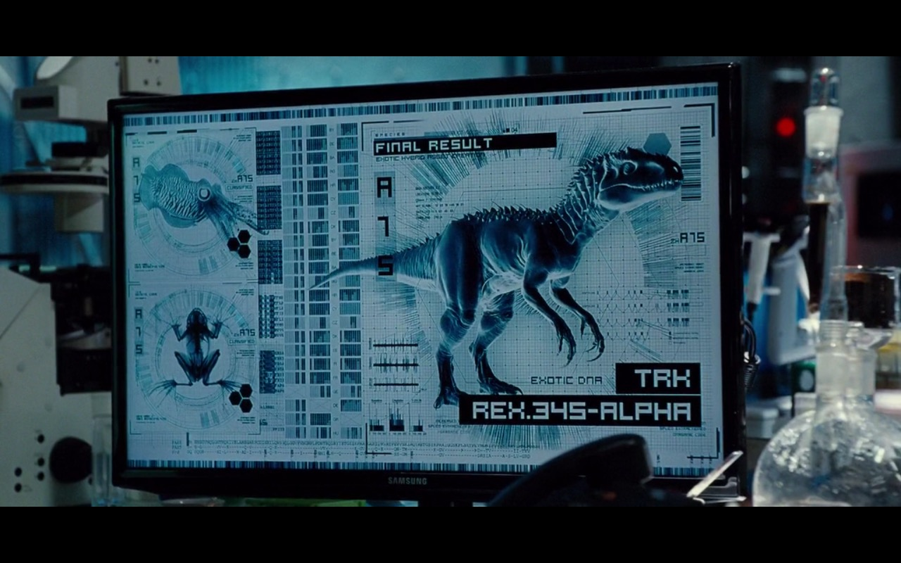 Samsung Monitor - Jurassic World (2015) Movie Product Placement