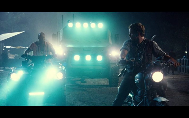 Triumph Scrambler – Jurassic World (2015) Movie Product Placement