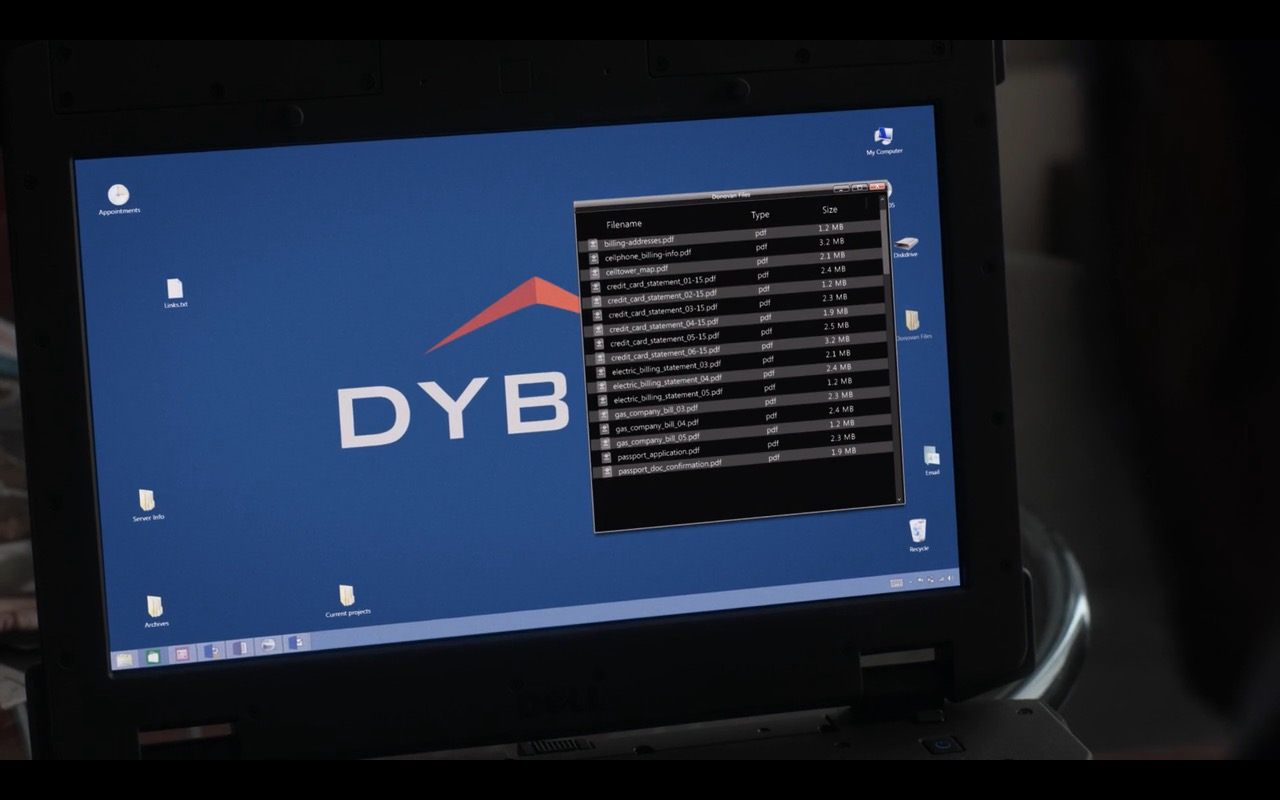Dell  XFR Laptop - Ray Donovan - TV Show Product Placement