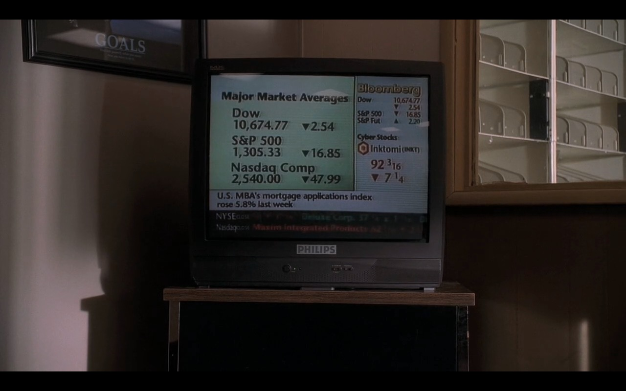 Philips TV and Bloomberg TV Channel in The Sopranos (S2E12) TV Show