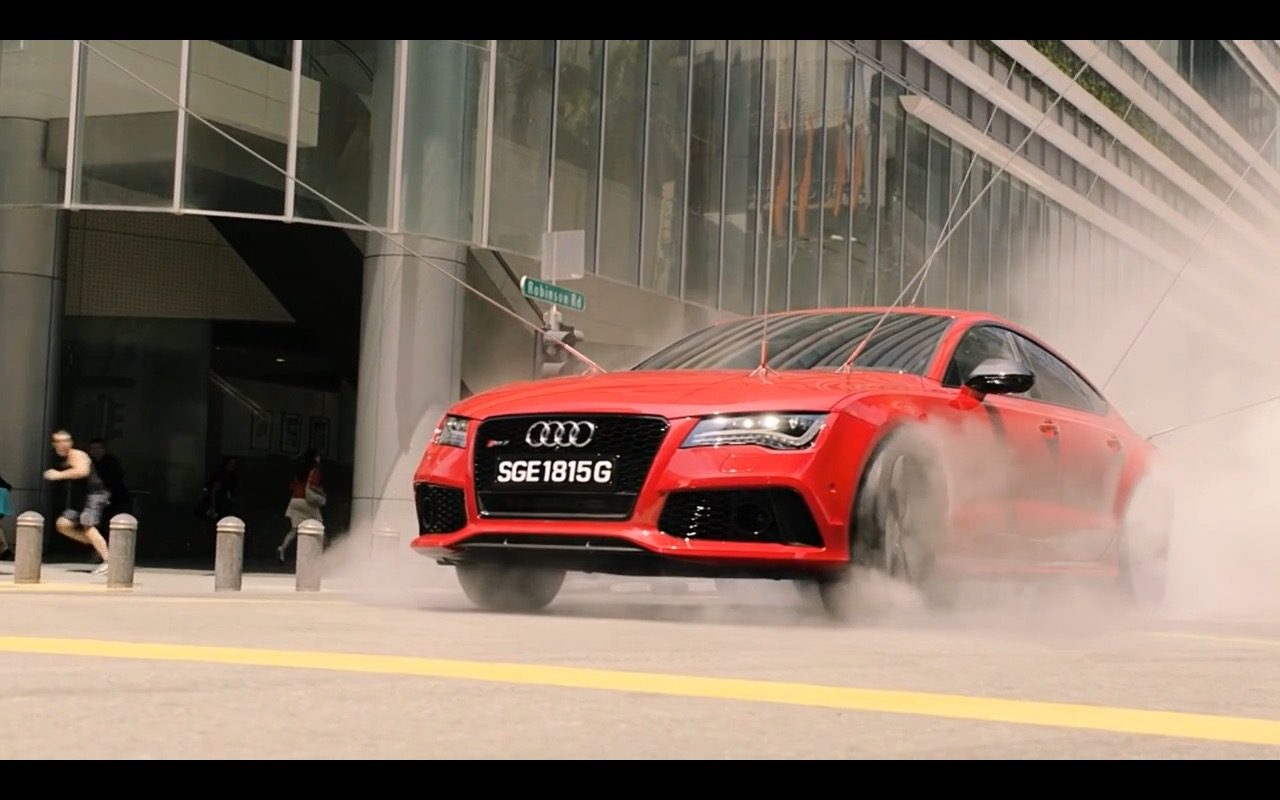 Red Audi Rs7 Hitman Agent 47 2015 Movie Scenes