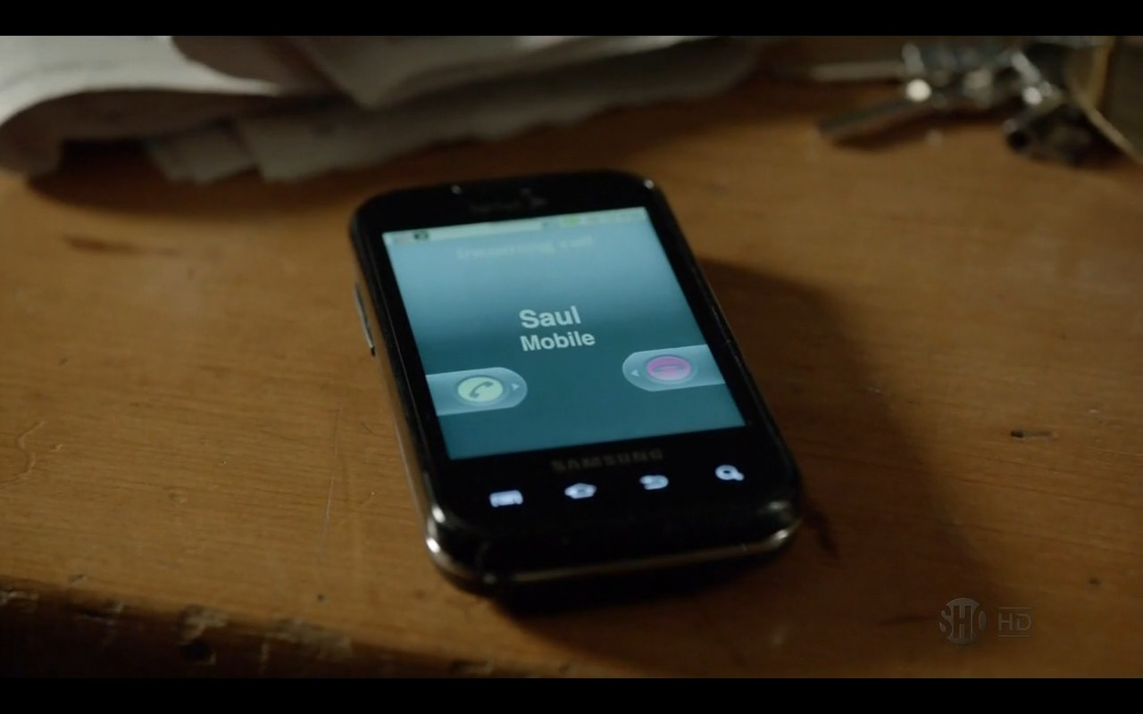 Samsung Phone - Homeland - TV Show Product Placement
