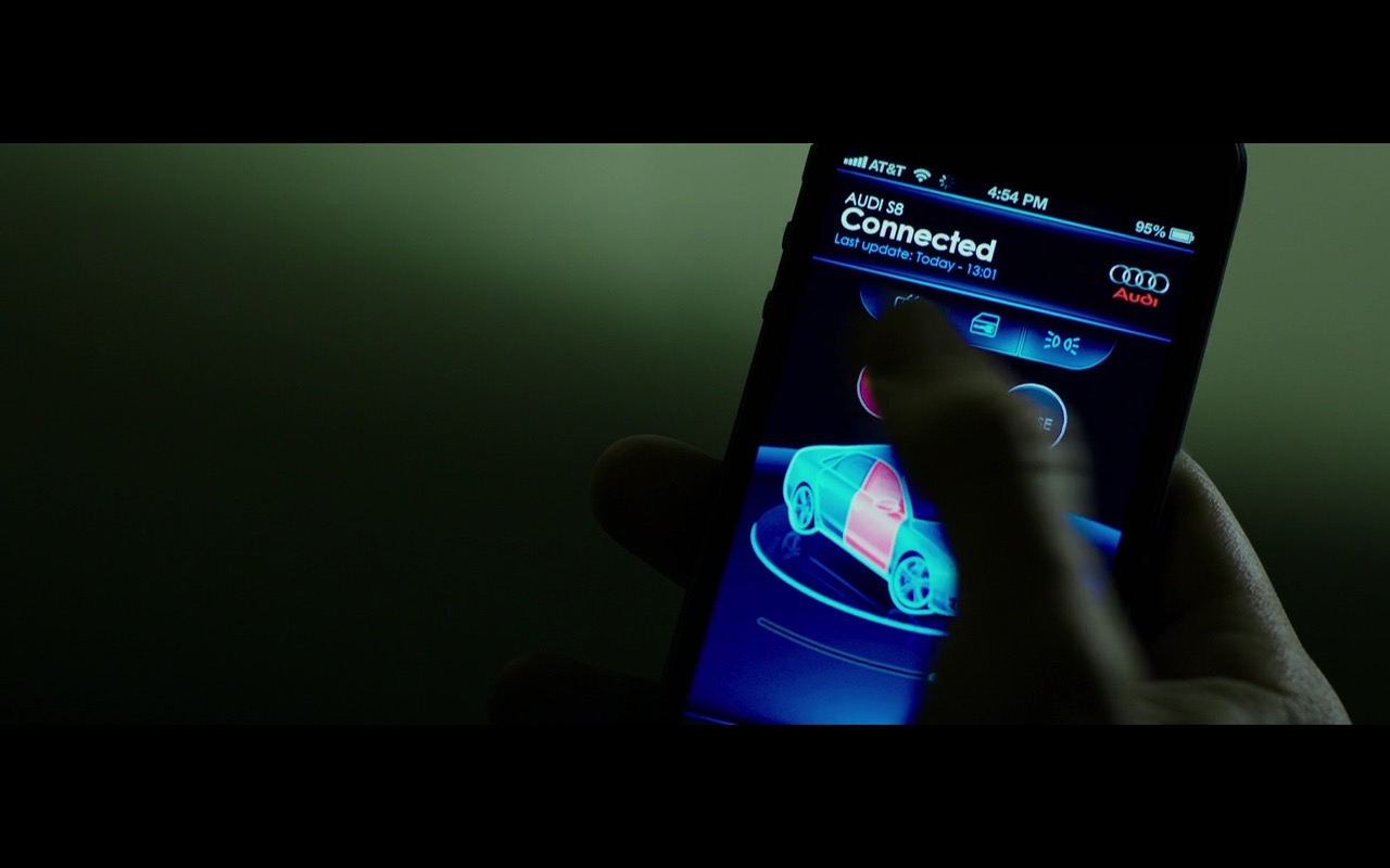 AT&T and AUDI S8 App For iPhone – The Transporter Refueled (2015) Movie Product Placement