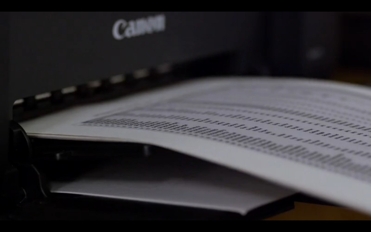 Canon Printer - Homeland TV Show Product Placement