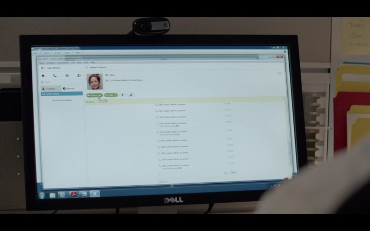 DELL Monitor and Skype - Adult Beginners (2015) Movie Product Placement