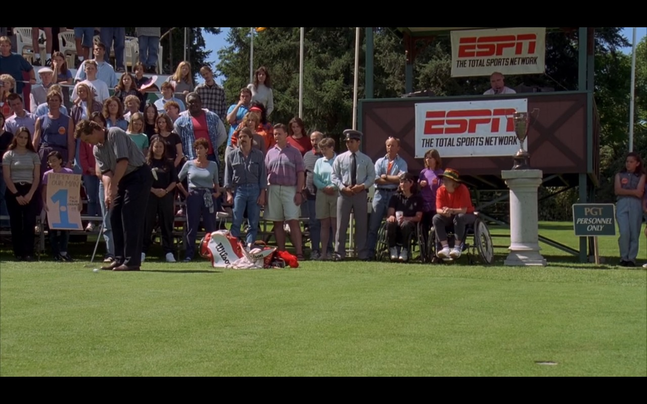 ESPN and Wilson Golf Bag Cover – Happy Gilmore (1996) Movie Product Placement