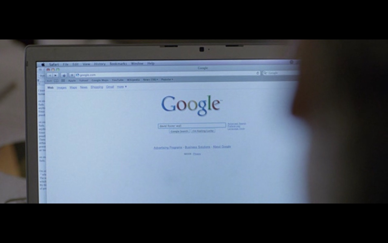 Google Search and Safari - The End of the Tour (2015) - Movie Product Placement