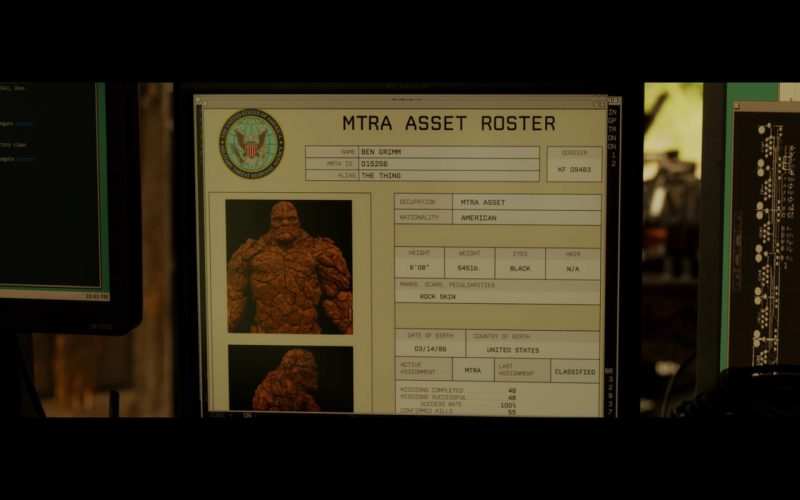 HP Monitors – Fantastic Four (2015) Movie Product Placement