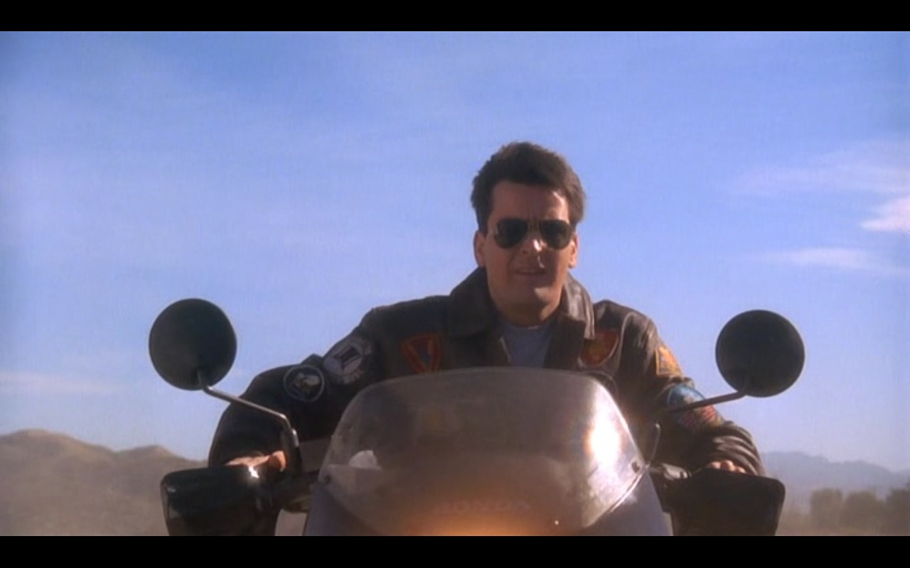 Honda Motorcycle – Hot Shots! (1991) Movie Product Placement