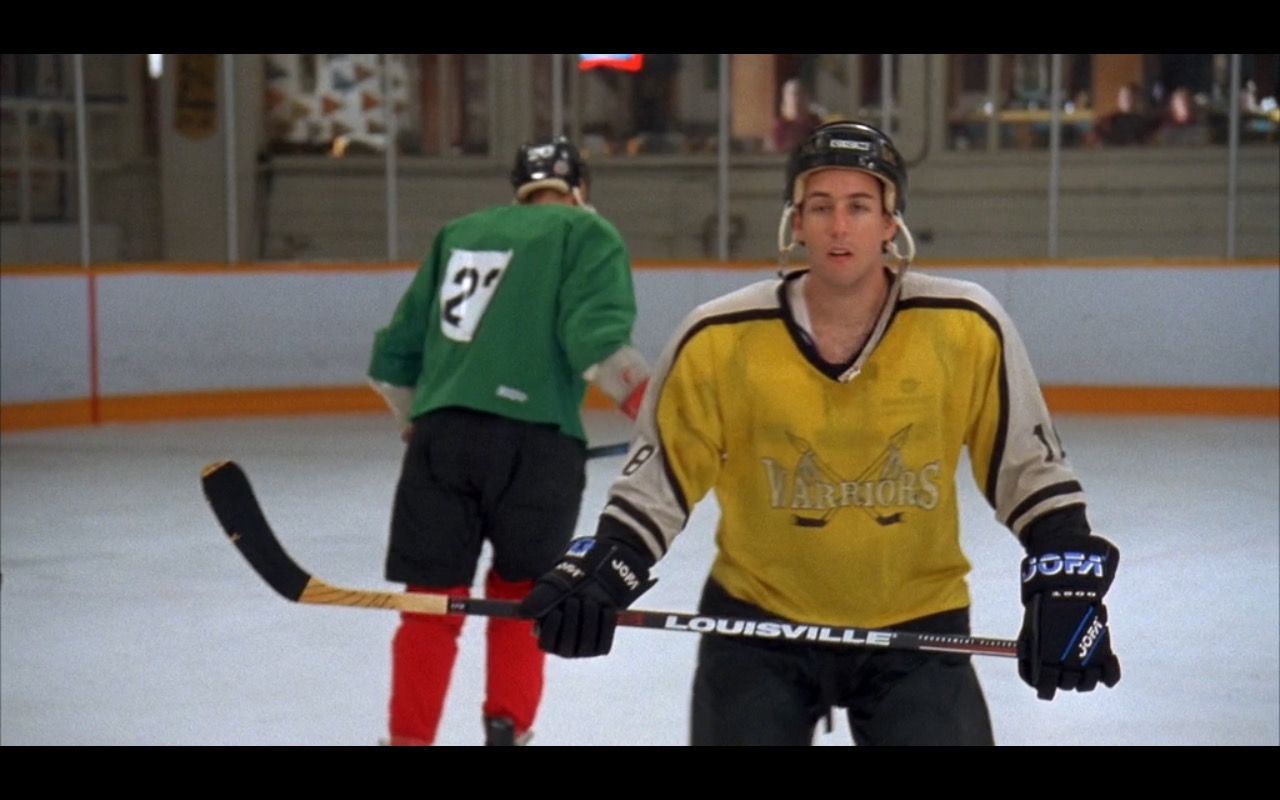 Louisville Hockey Stick, Jofa Hockey Gloves & CCM Helmet – Happy Gilmore (1996) Movie Product Placement