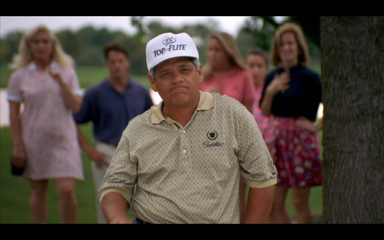 Top Flite Cap and Cadillac Shirt – Happy Gilmore (1996) Movie Product  Placement 2db96ec2b5d