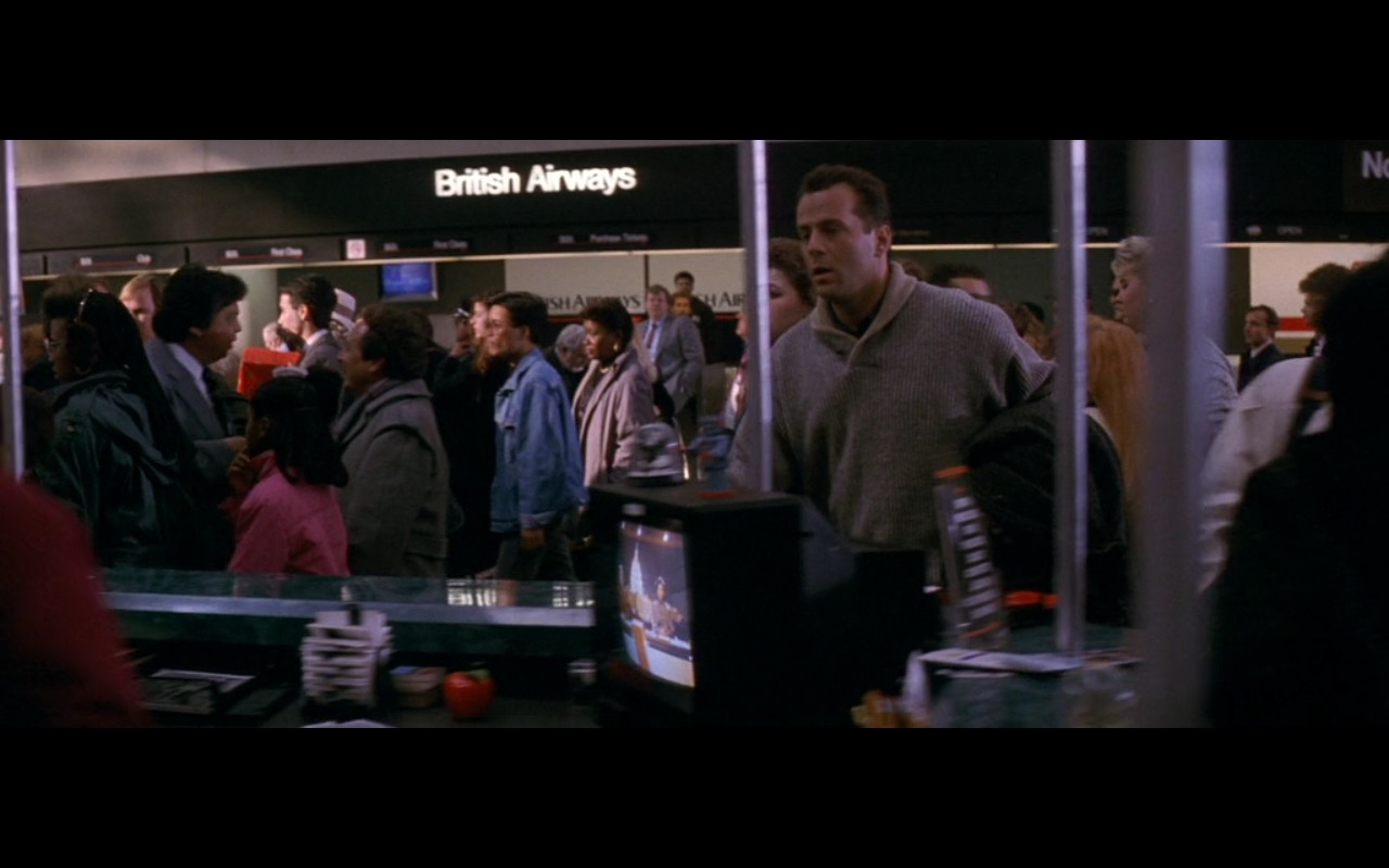 British Airways - Die Hard 2 (1990) Movie Product Placement