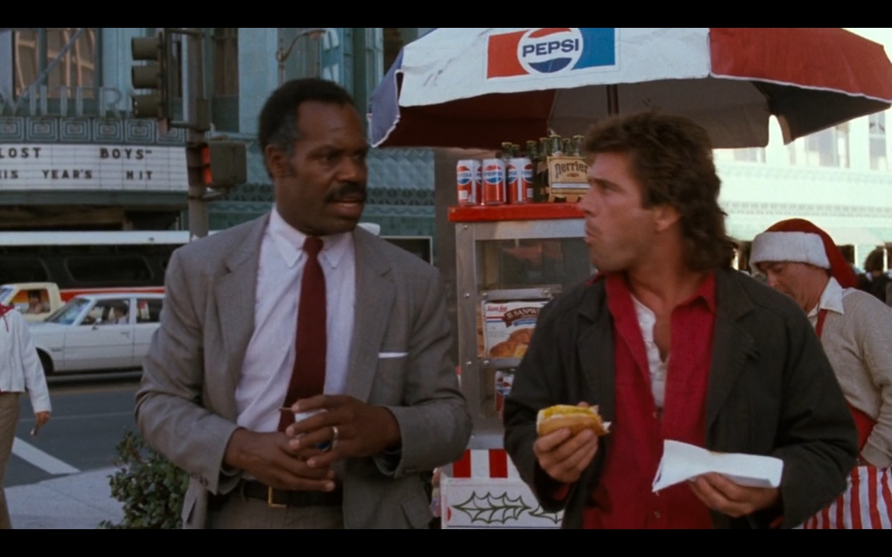 Sara Lee, Pepsi and Perrier in Lethal Weapon (1987) - Movie Product Placement