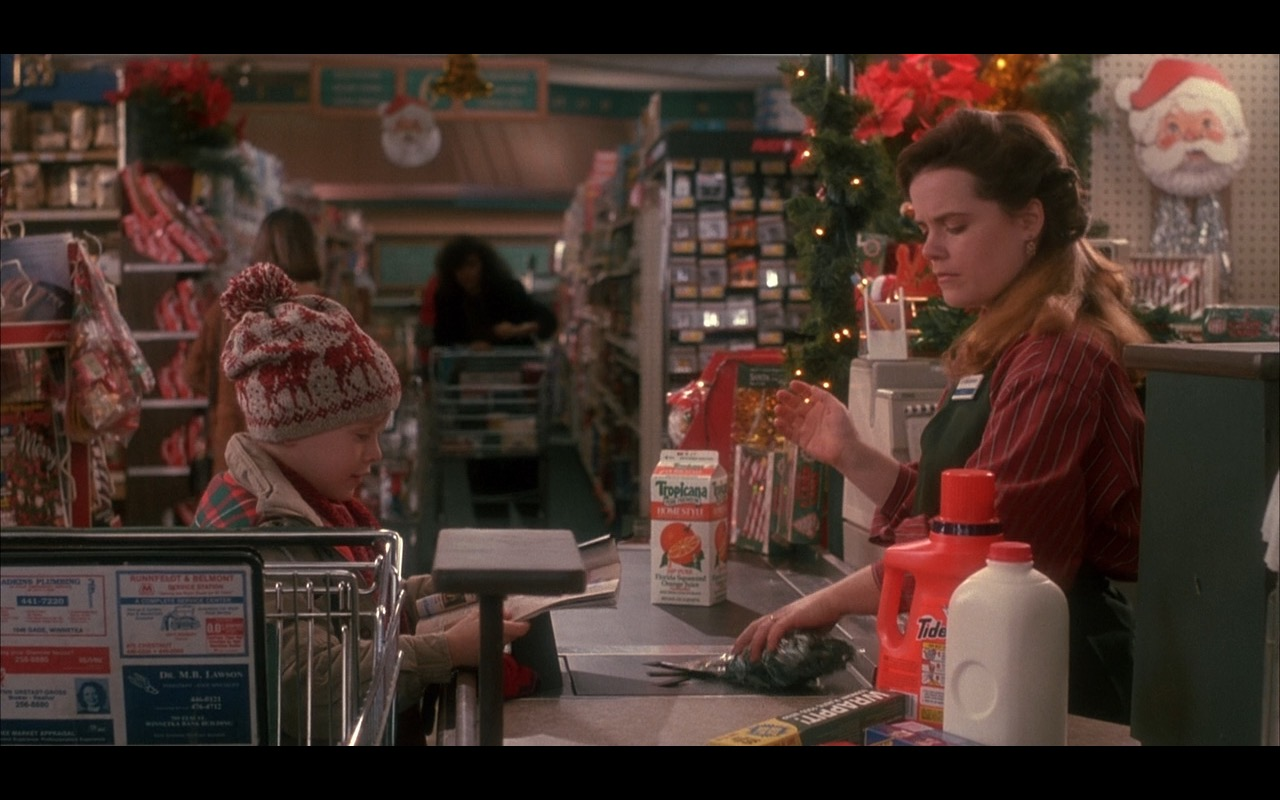 Tropicana and Tide – Home Alone (1990) - Movie Product Placement