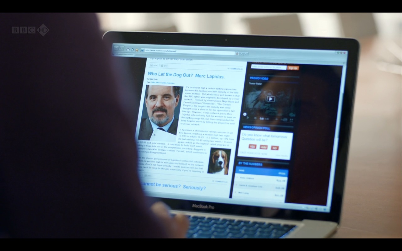 Apple MacBook Pro 15 - Episodes TV Show Product Placement