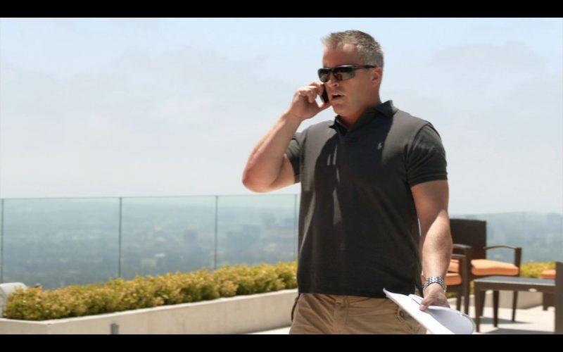 Ralph Lauren Black Polo Shirt – Episodes TV Show Product Placement