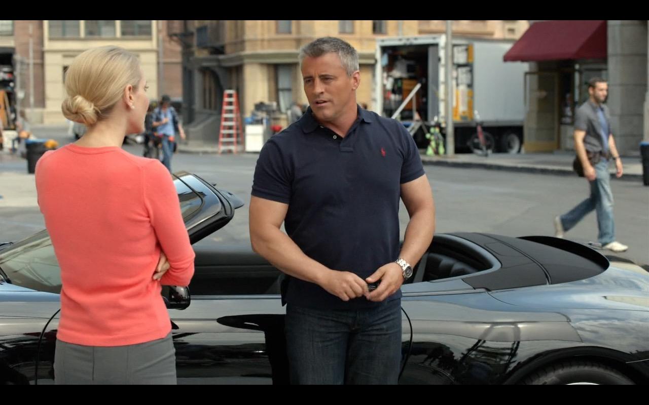 Ralph Lauren Blue Polo Shirt Worn by Matt LeBlanc in Episodes - TV Show Product Placement