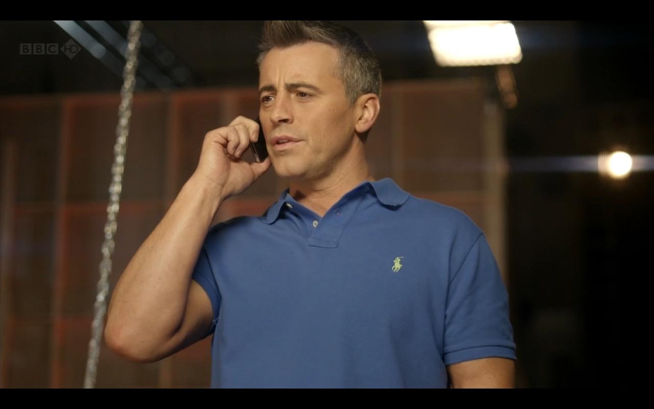 Ralph Lauren Blue Polo Shirt - Episodes TV Show Product Placement