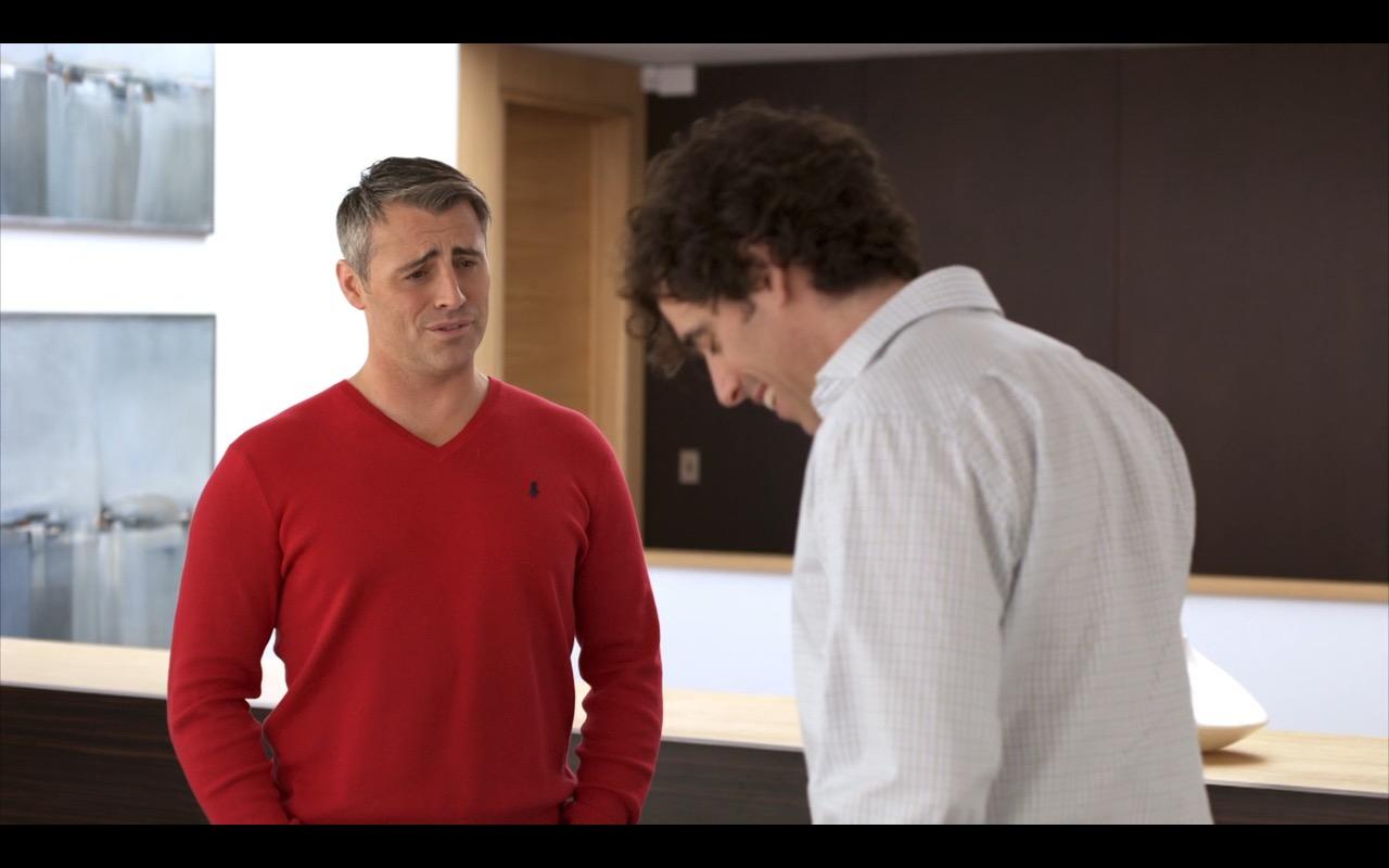 Ralph Lauren Red Sweater – Episodes TV Show Scenes