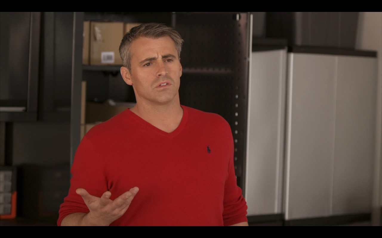 Ralph Lauren Red Sweater -  Episodes TV Show Product Placement