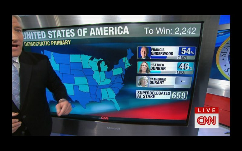 Microsoft and CNN – House Of Cards TV Show Product Placement
